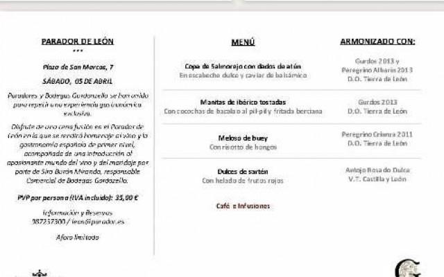 El Parador de Turismo de León organiza Cena - Maridaje con nuestros vinos PEREGRINO. ¡Reserve su plaza!