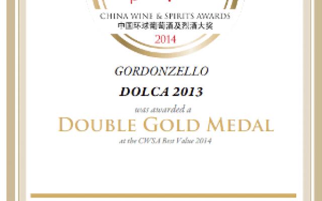 DOBLE MEDALLA DE ORO PARA EL VINO DOLCA 2013 EN CHINA WINES & SPIRITS AWARDS